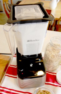 Pancake Ingredients In The Blendtec Designer Series Blender