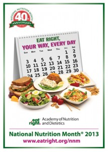 Logo for National Nutrition Month 2013