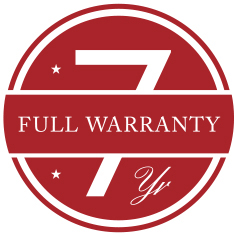 7-year warranty seal
