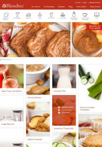 Recipes on new Blendtec website