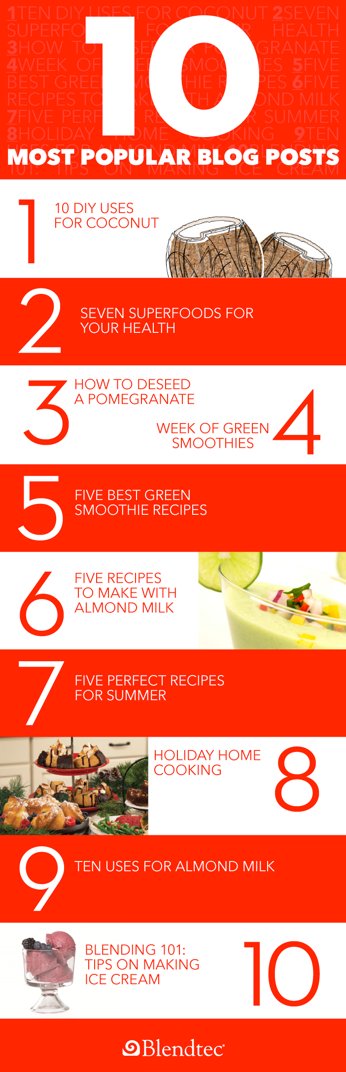 Blendtec's 10 Most Popular Blog Posts graphic