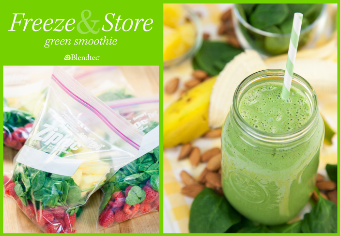 Freeze and Store Green Smoothie feature image