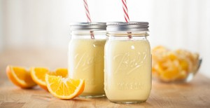 Orange Julicious blender smoothie