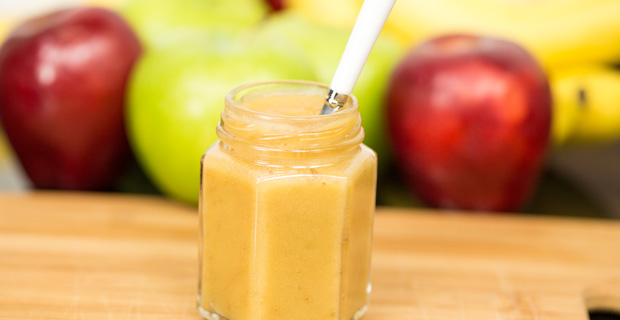 Apple-banana baby food