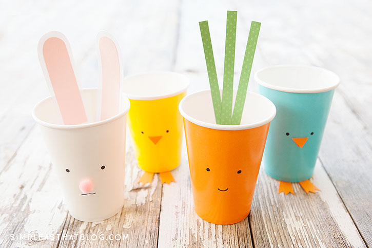 Easter Cups from Simple As That Blog
