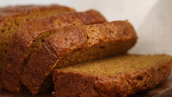 Blendtec vegan pumpkin bread