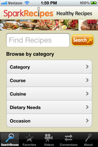 spark recipes screenshot