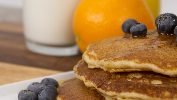 Blendtec whole wheat pancakes