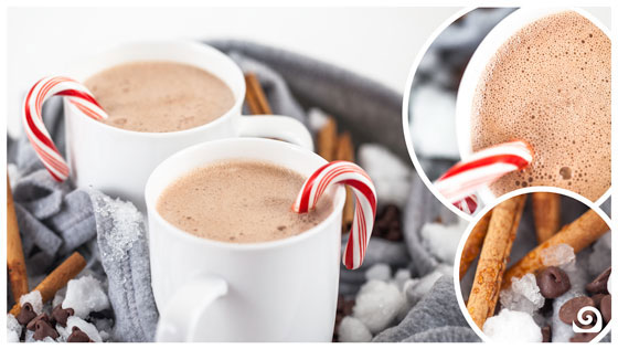 Blendtec peppermint hot cocoa