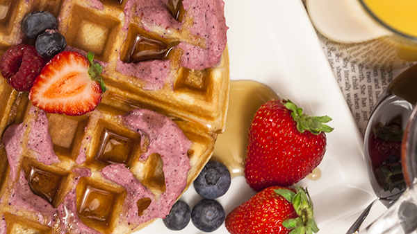 Blendtec's Berry-Infused Buttercream Waffles
