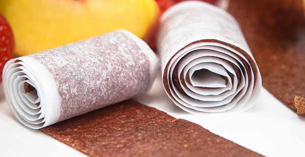 Peach and Strawberry Fruit Leather recipe