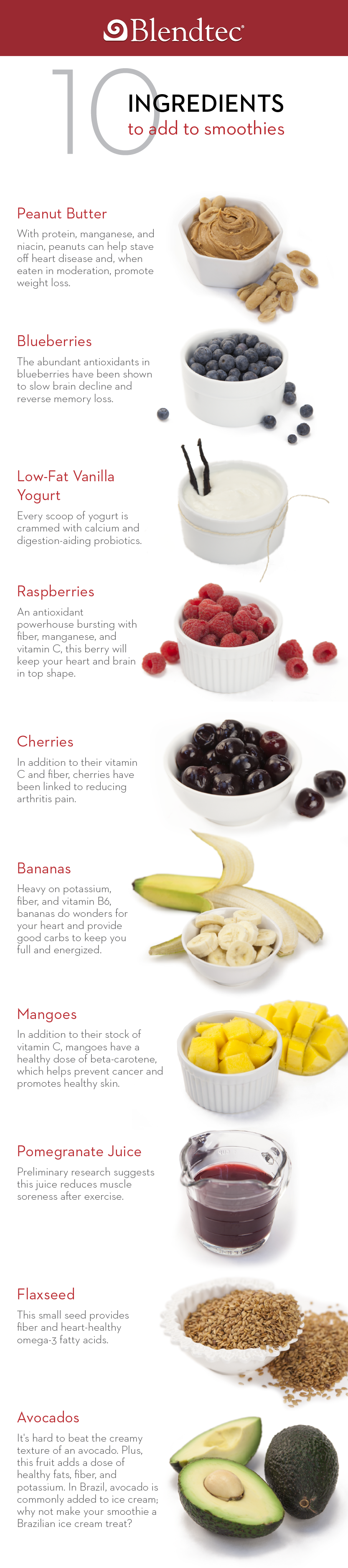 10 Ingredients For Your Smoothies