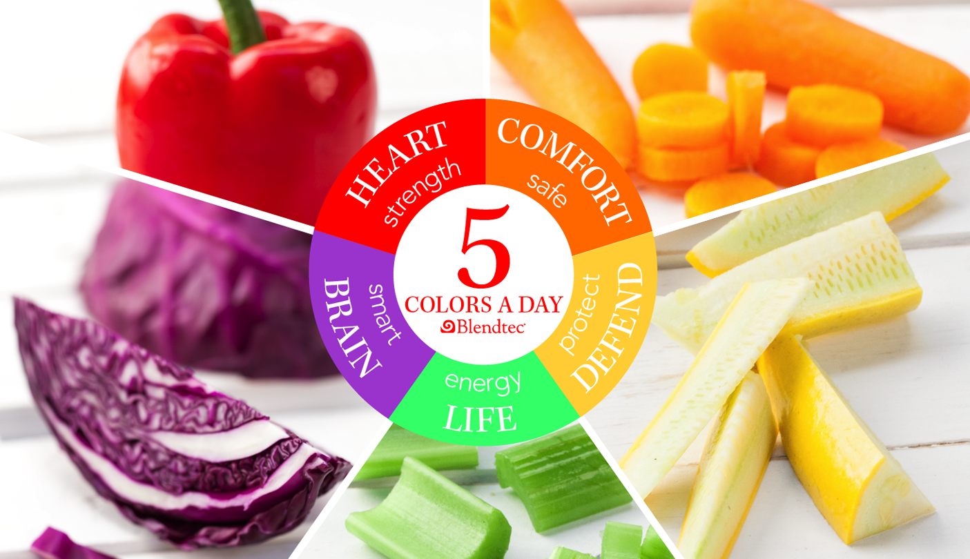 5 Colors a day vegetable graphic