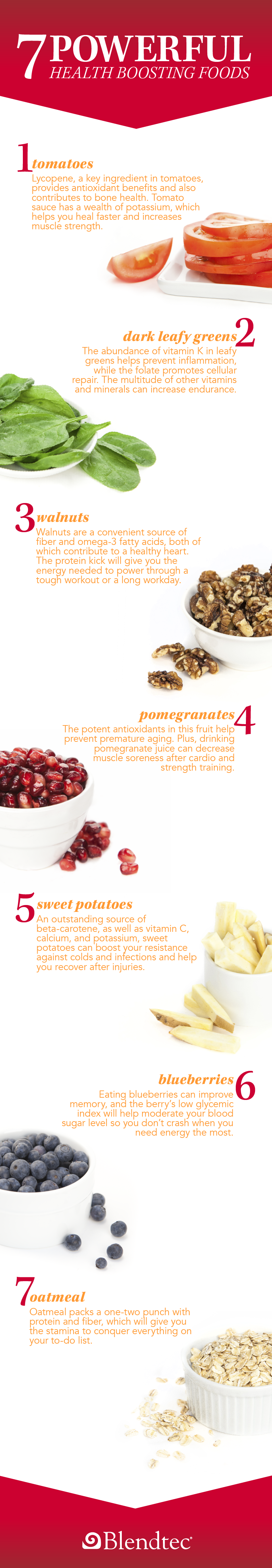 Infographic of 7 Powerful Health-Boosting Foods