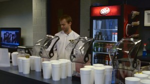 St. Louis Rams dietitian Shawn Zell uses Blendtec Stealth blenders to prepare recovery smoothies for players.