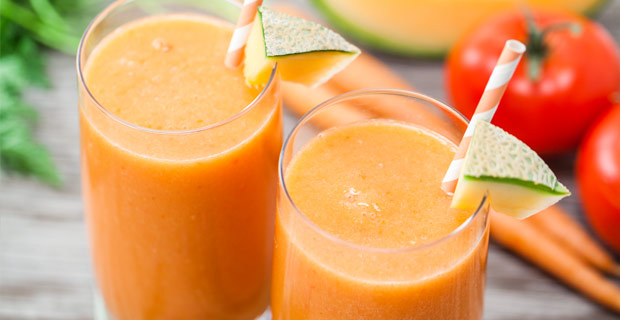 Cantaloupe-Veggie Smoothie Blender Recipe