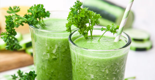 Parsley-Passion Green Smoothie Blender Recipe