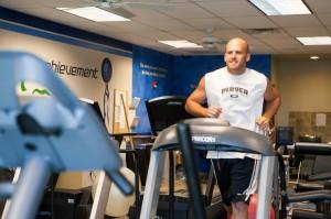 Guy doing cardio workout