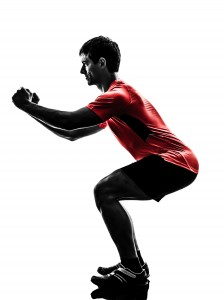 Guy doing squats