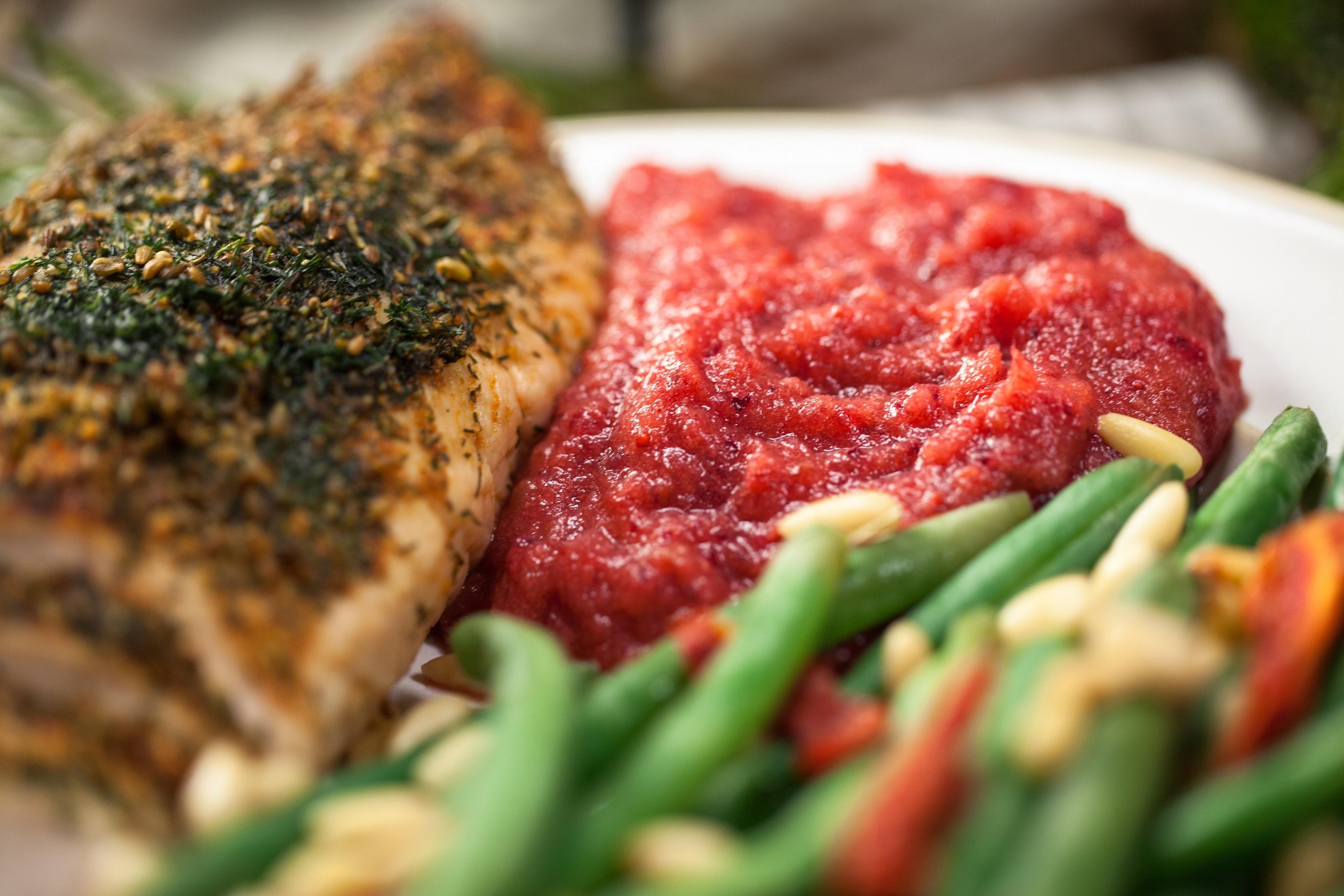 Cranberry sauce meal