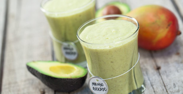Mango-Avocado Green Smoothie blender recipe_protein