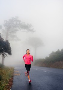 Girl on early morning run