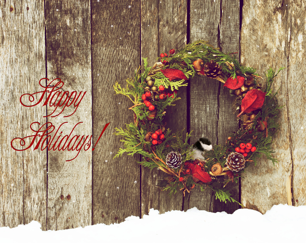 Happy Holidays w/wreath_featured