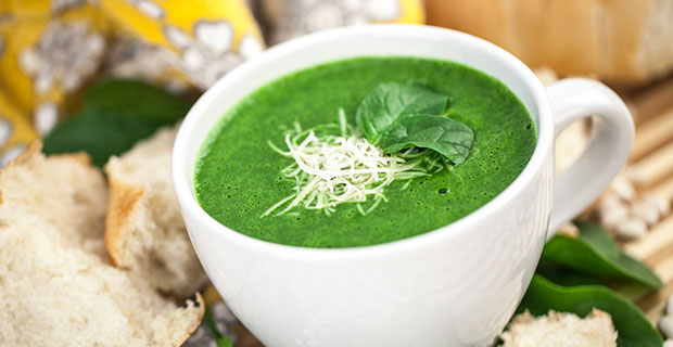Velvety Spinach Soup Recipe