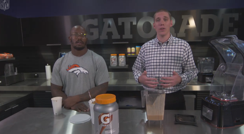 NFL and Denver Broncos All-Pro Von Miller gets his nutrition from the Gatorade Fuel Bar using Blendtec's Stealth blender!