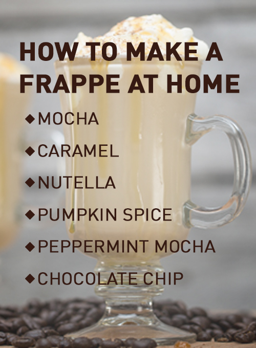 How to Make a Frappe at Home