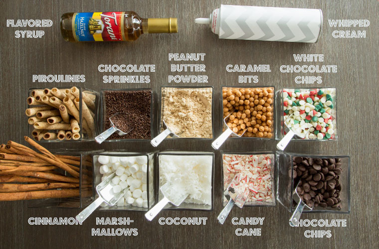 Hot Chocolate Bar Add-ins