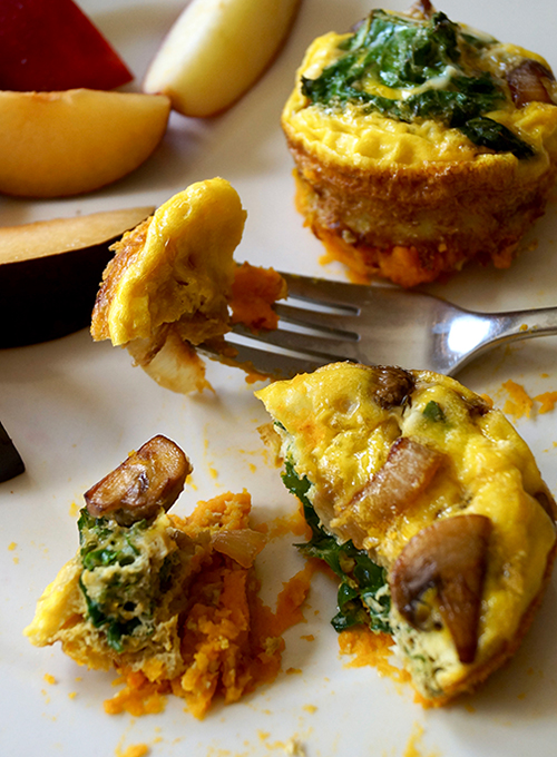 Sweet Potato Mini Quiche